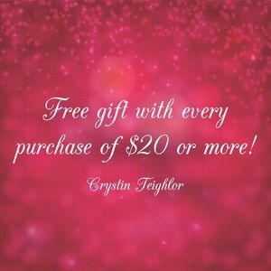 Free gift w/ $20 purchase!
